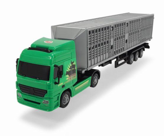 Dickie Camion Transport Animale Cu Remorca 42 Cm