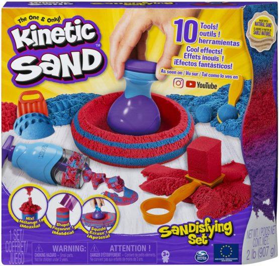 Kinetic Sand Set Sandtastic Cu 10 Accesorii Si Nisip