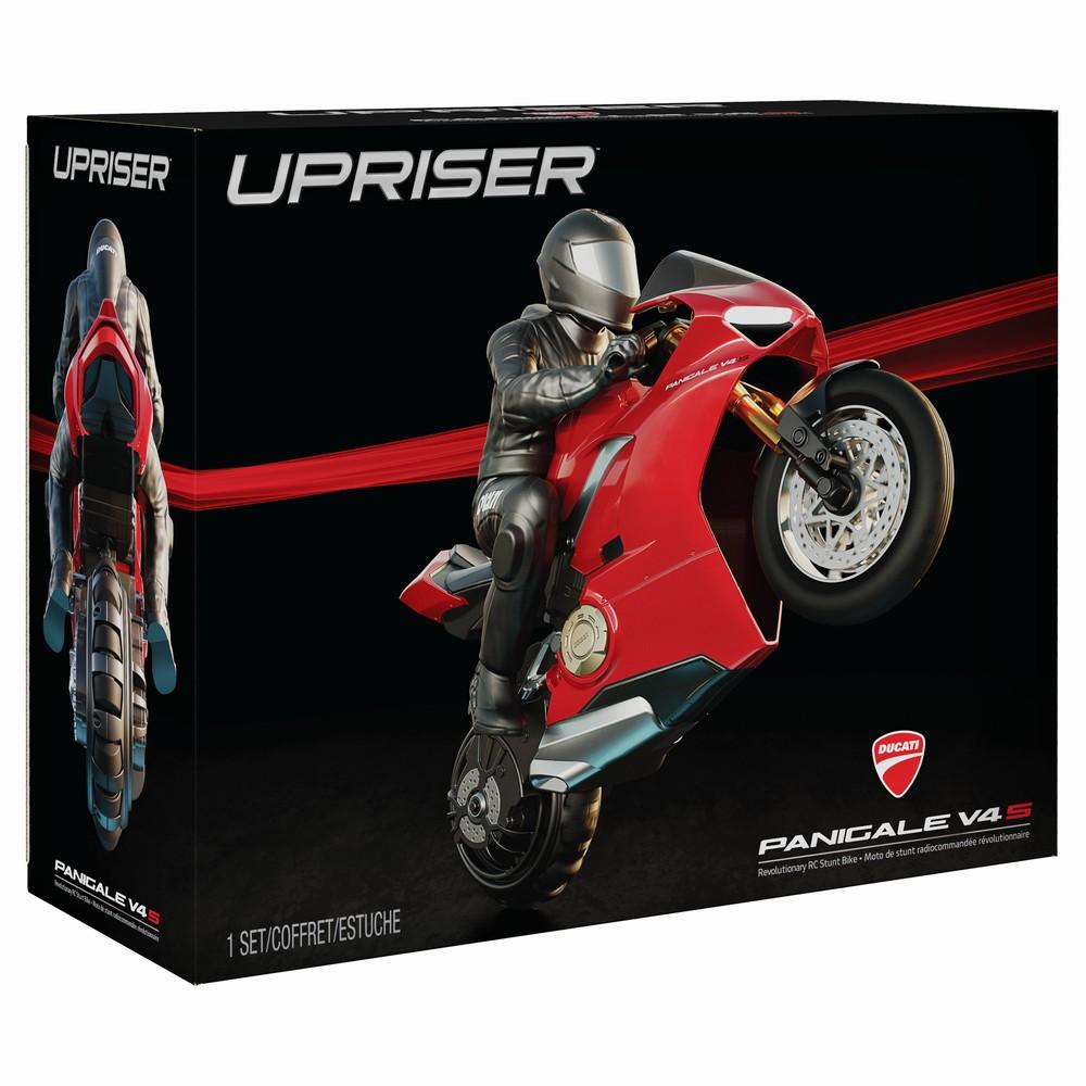 Motocicleta Rc Ducati Upriser Pe O Roata In Viteza