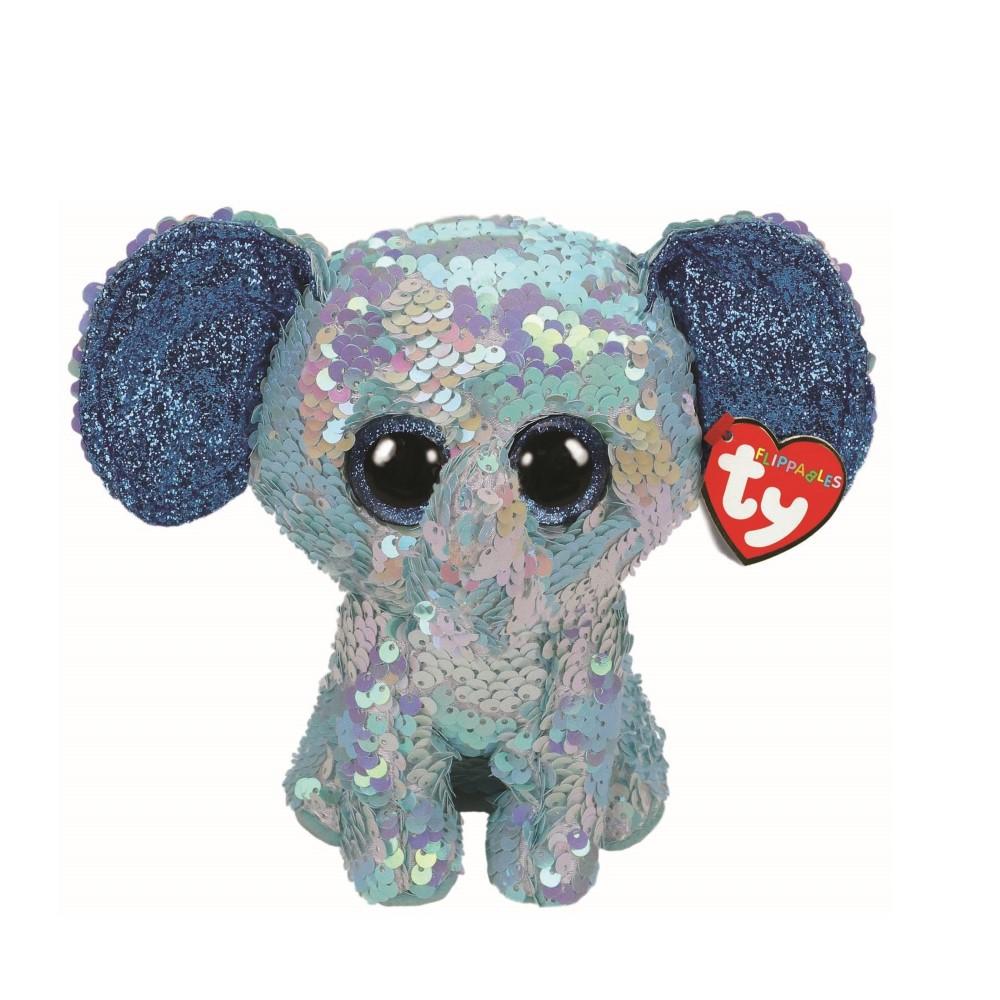 Plus Ty 15cm Boos Elefantul Stuart Cu Paiete