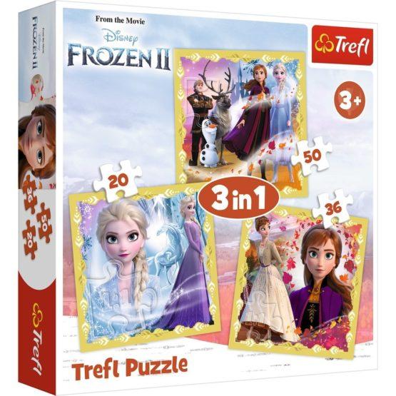 Puzzle Trefl 3in1 Frozen2 Ana Si Elsa