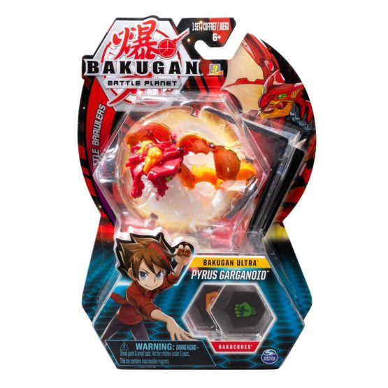 Bakugan Bila Ultra Pyrus Garganoid Gargoyle Red