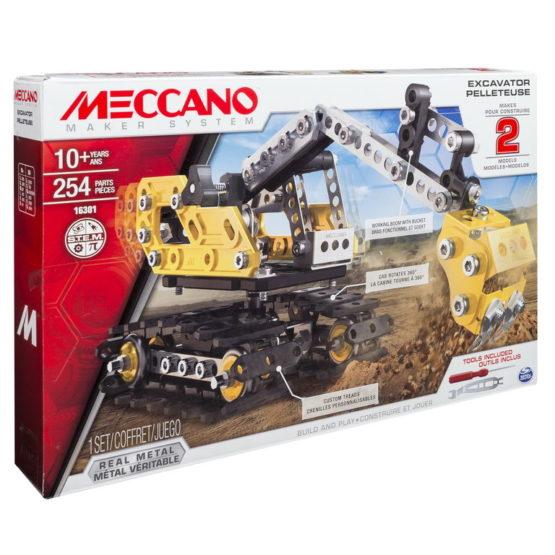 Meccano Kit 2 In 1 Excavator Buldozer