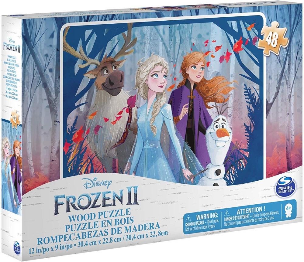 Puzzle Frozen2 48 Piese Din Lemn