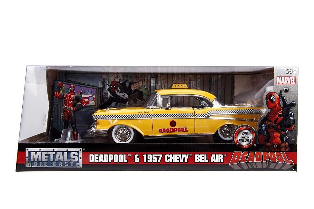 Yellow Taxi Chevy 1957 Dead Pool Scara 1 La 24