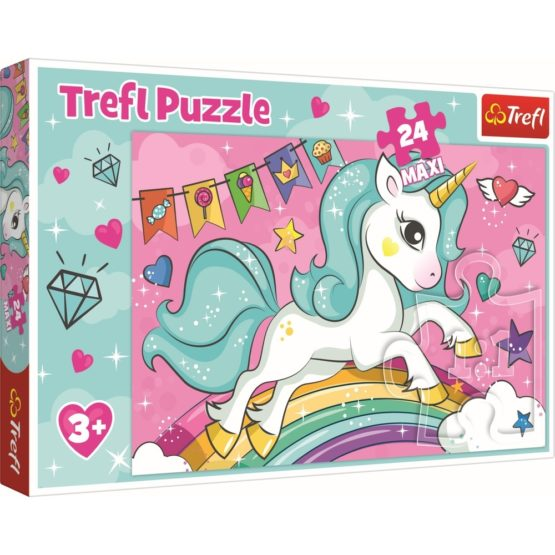 Puzzle Trefl 24 Maxi Unicornul Curcubeu