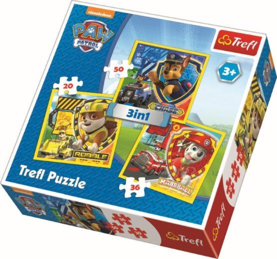 Puzzle Trefl 3in1 Eroii Catelusi