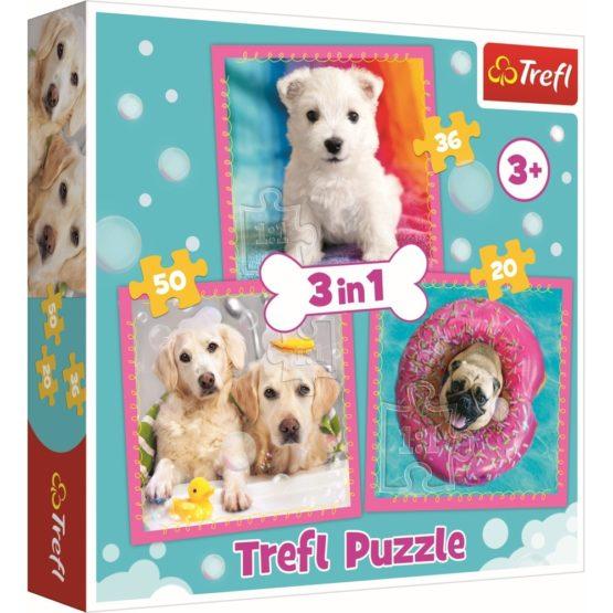 Puzzle Trefl 3in1 Catelusi La Baita