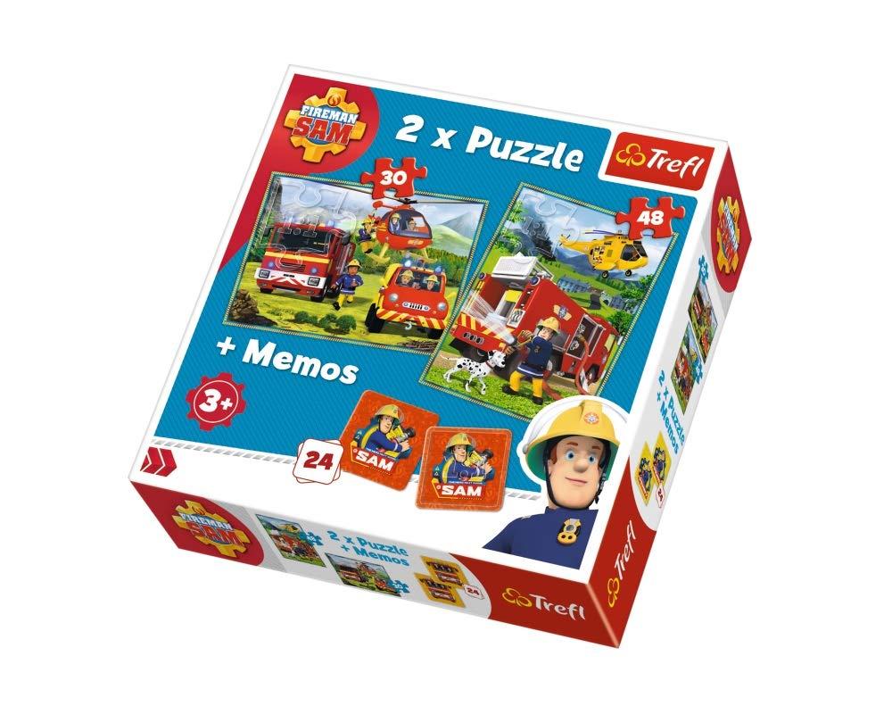 Puzzle Trefl 2in1 Memo Pompierii In Actiune