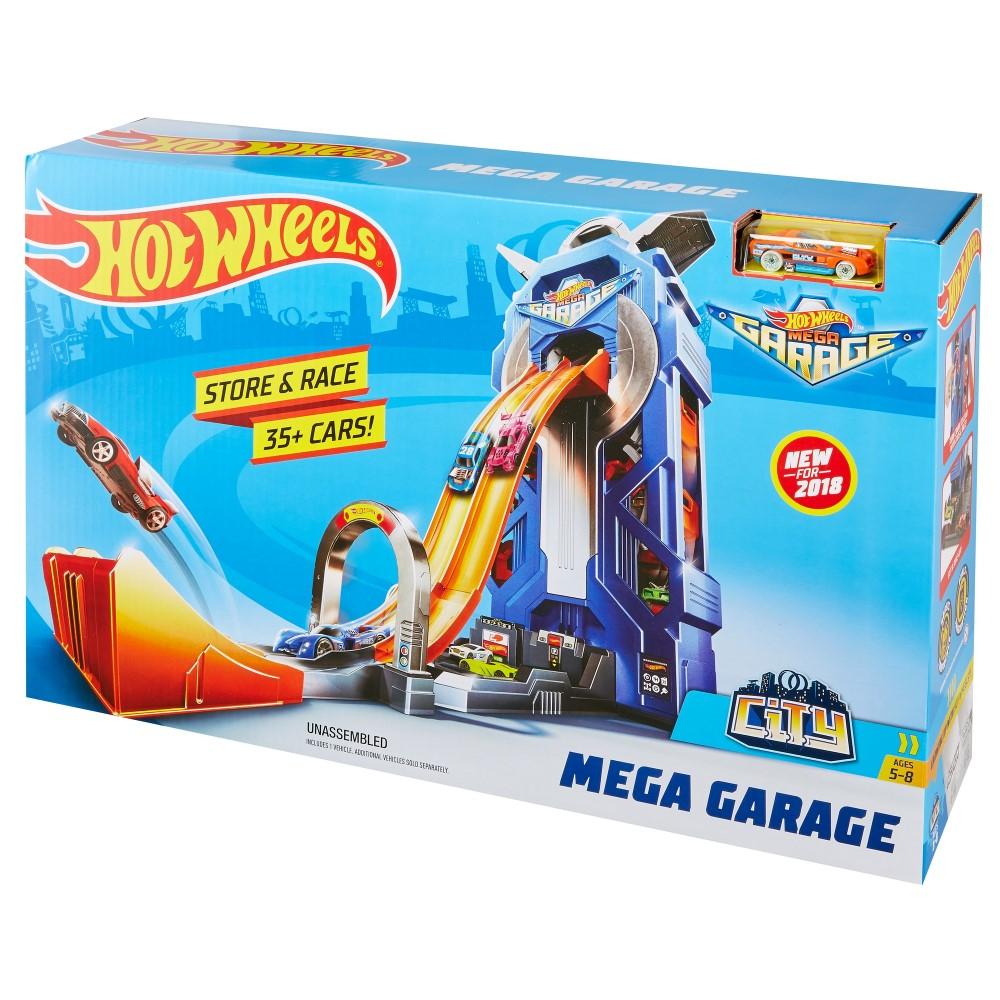 Garaj Hot Wheels Cu Pista De Lansare