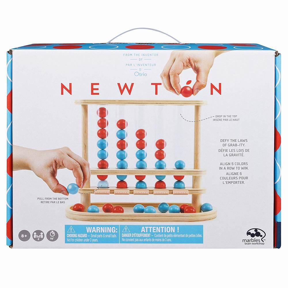 Joc Marble Newton 5 In Linie Din Lemn
