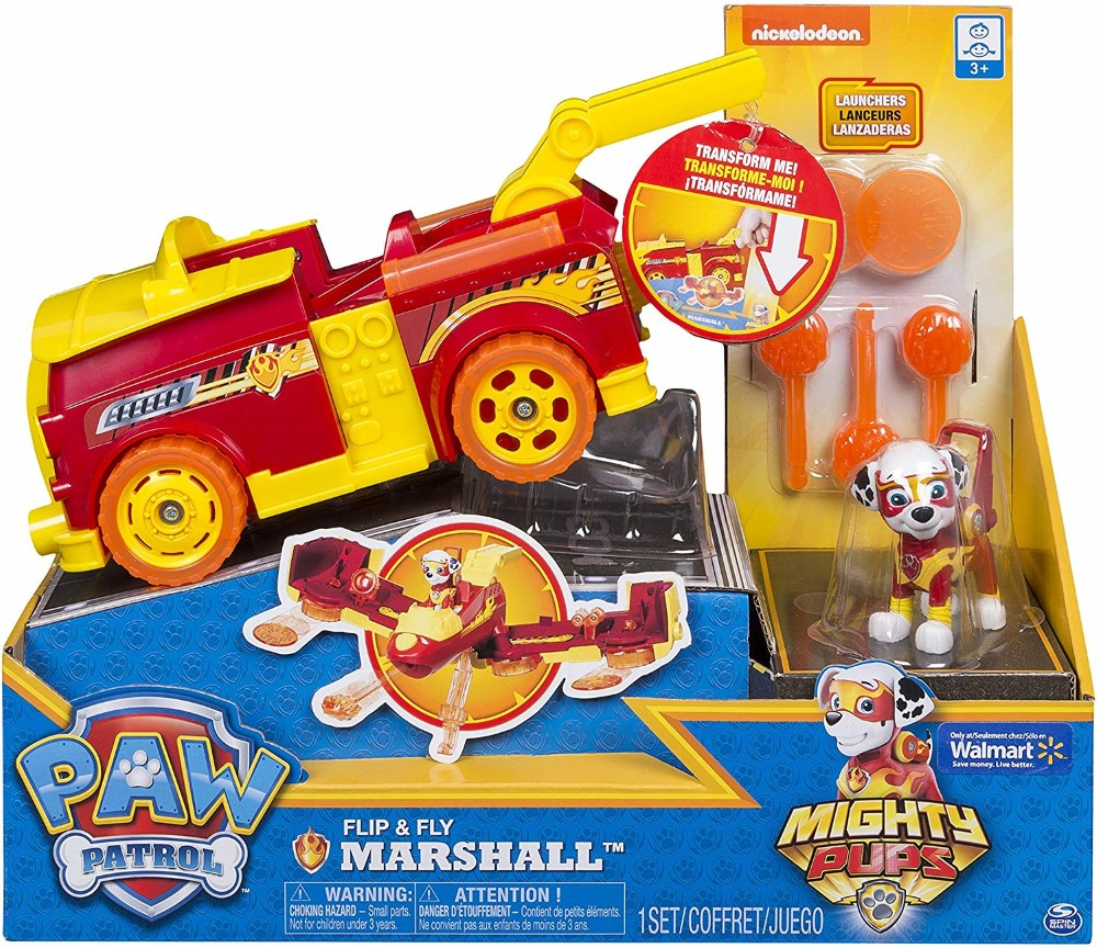 Patrula Catelusilor Vehicul Flip And Fly Marshall