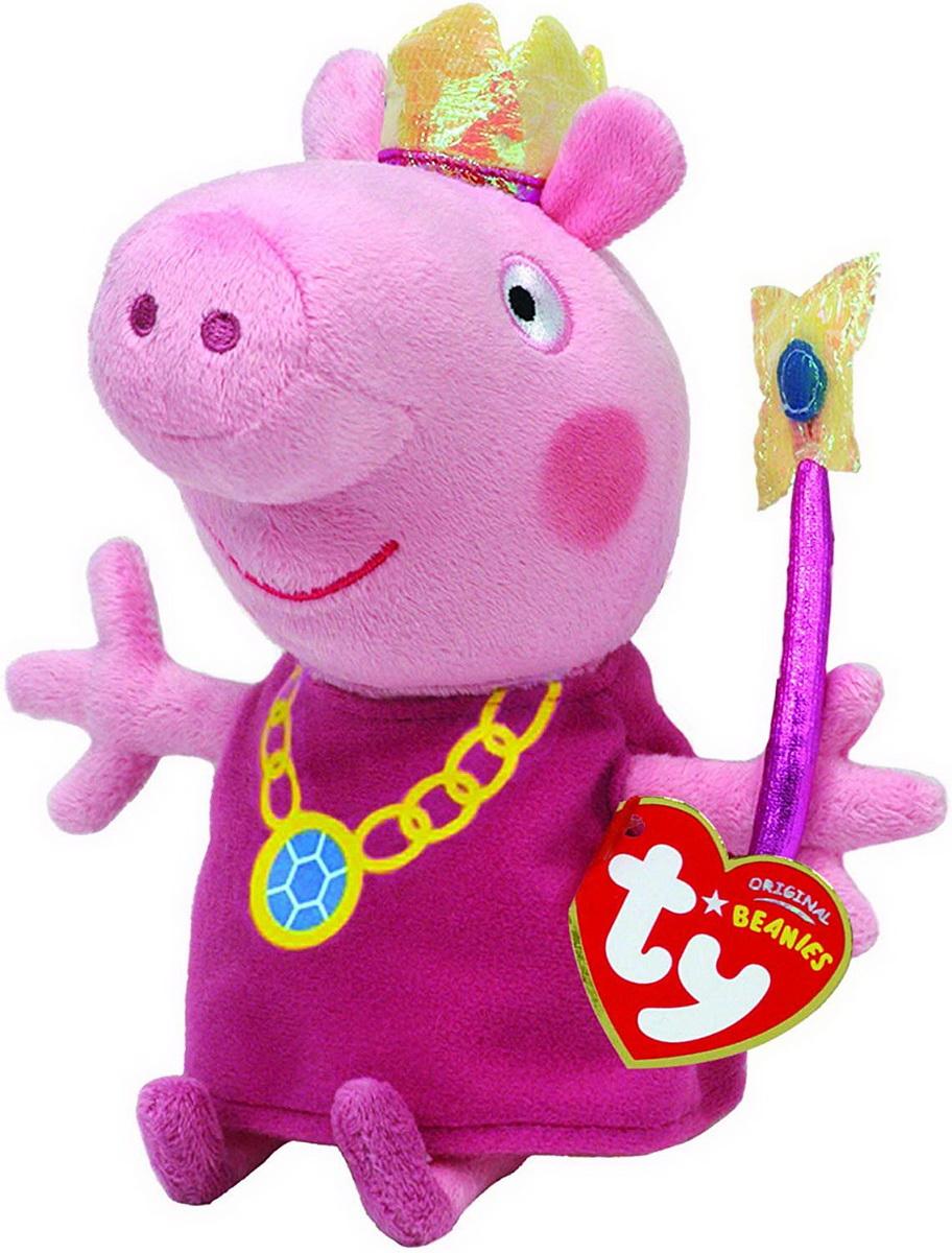 Plus Ty 15cm Peppa Pig Printesa