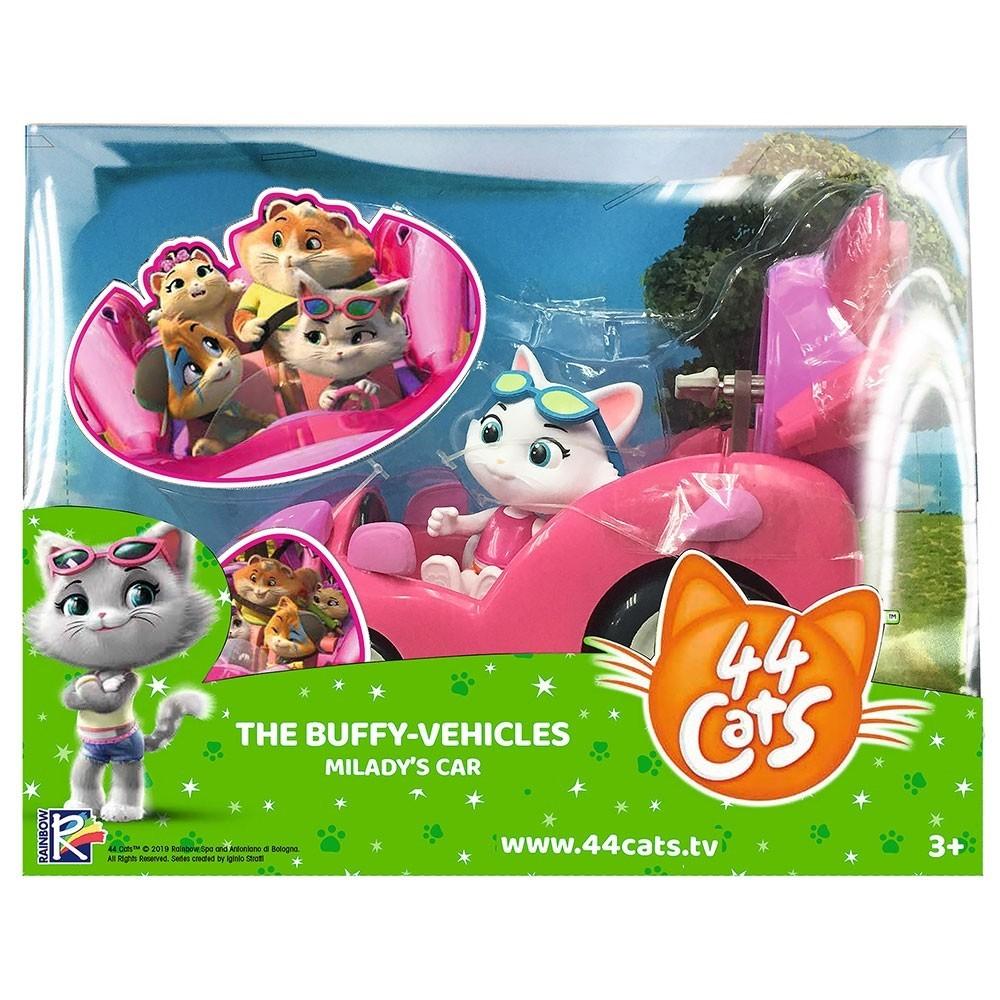 44 De Pisici Set Figurina Mi Lady Cu Masinuta Roz