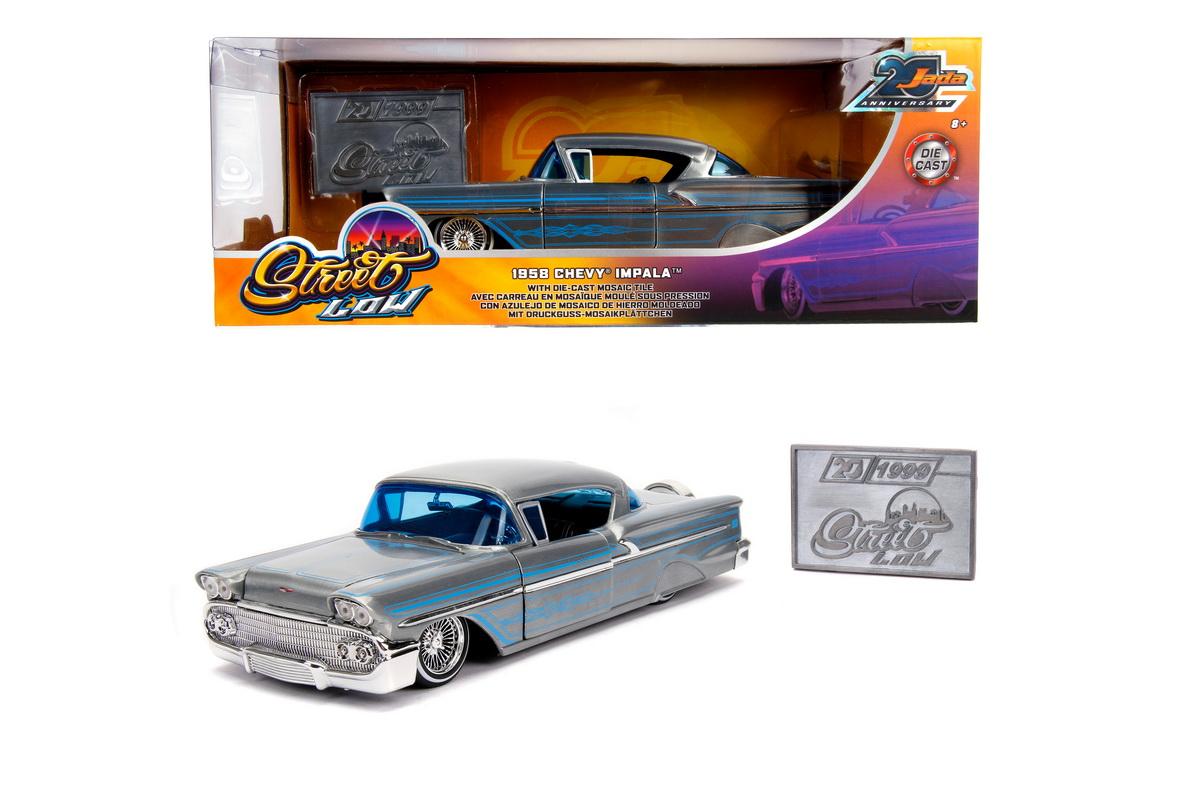 Macheta Metalica Chevy Impala Hard Top 1958 Scara 1 La 24
