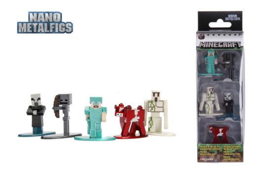 Minecraft Set 5 Figurine Din Metal Scara 1 La 65