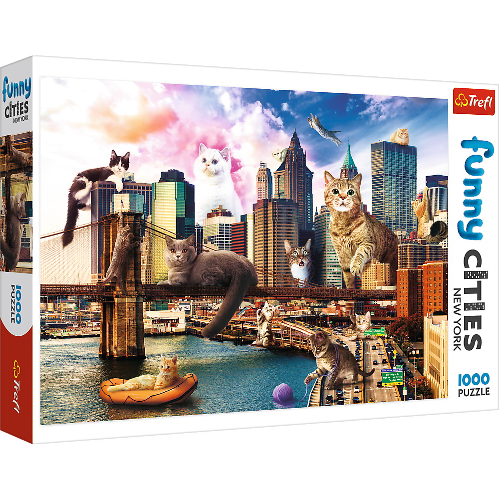 Puzzle Trefl 1000 Pisicute La New York