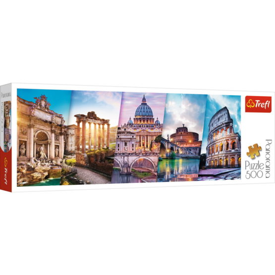 Puzzle Trefl 500 Panorama Calatorind In Italia