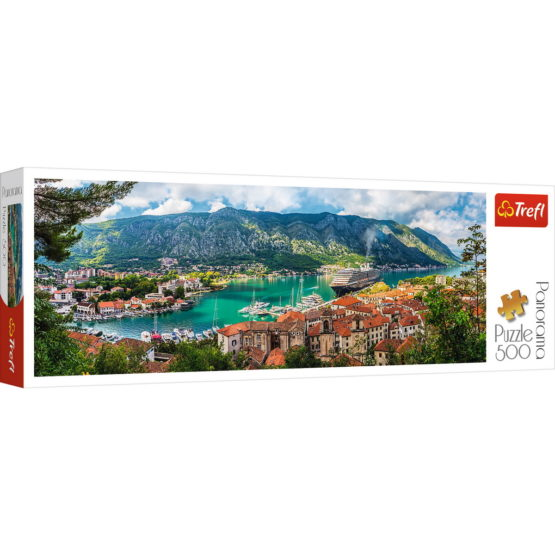 Puzzle Trefl 500 Panorama Orasul Kotor Muntenegru
