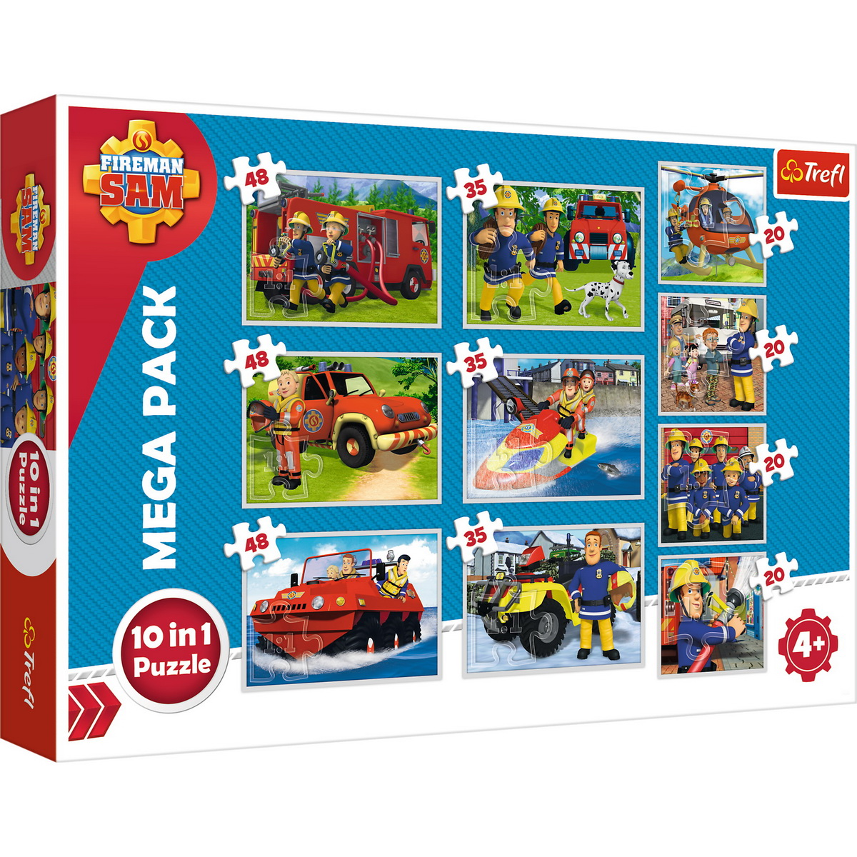 Puzzle Trefl 10in1 Echipa Pompierului Sam