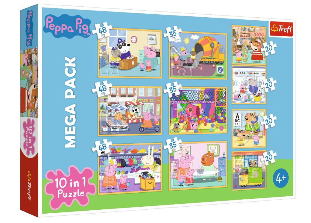 Puzzle Trefl 10in1 Purcelusa Peppa Pig Cu Prietenii