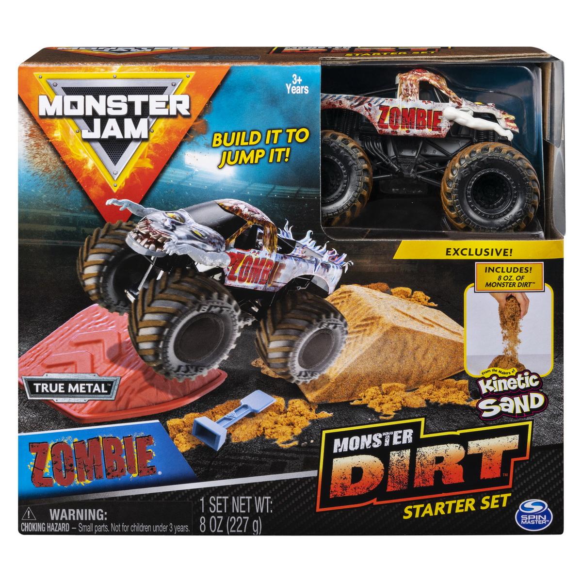 Monster Jam Set Acrobatii Cu Nisip Si Macheta Zombie