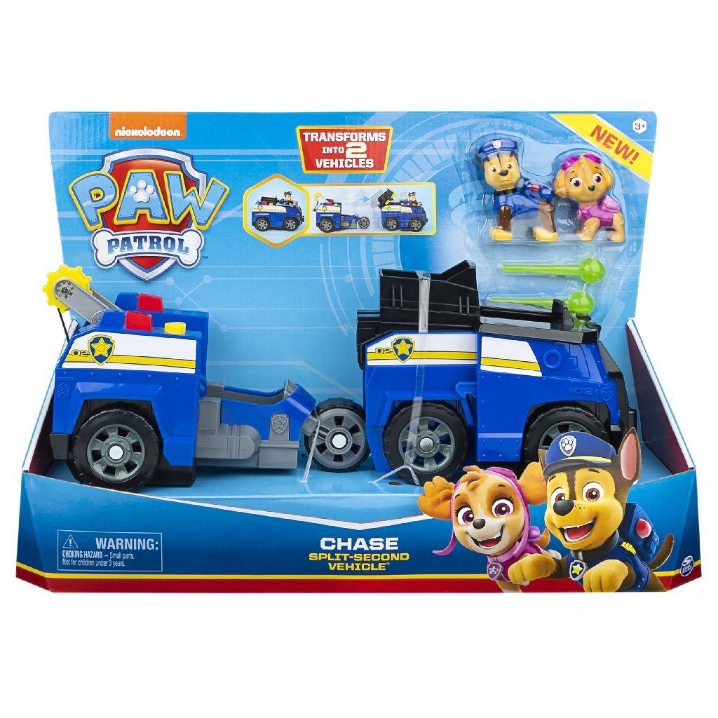 Patrula Catelusilor 2in1 Split Second Chase Masina De Politie