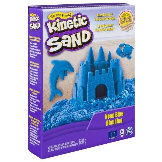 Kinetic Sand Deluxe Culori Albastru Neon 680grame