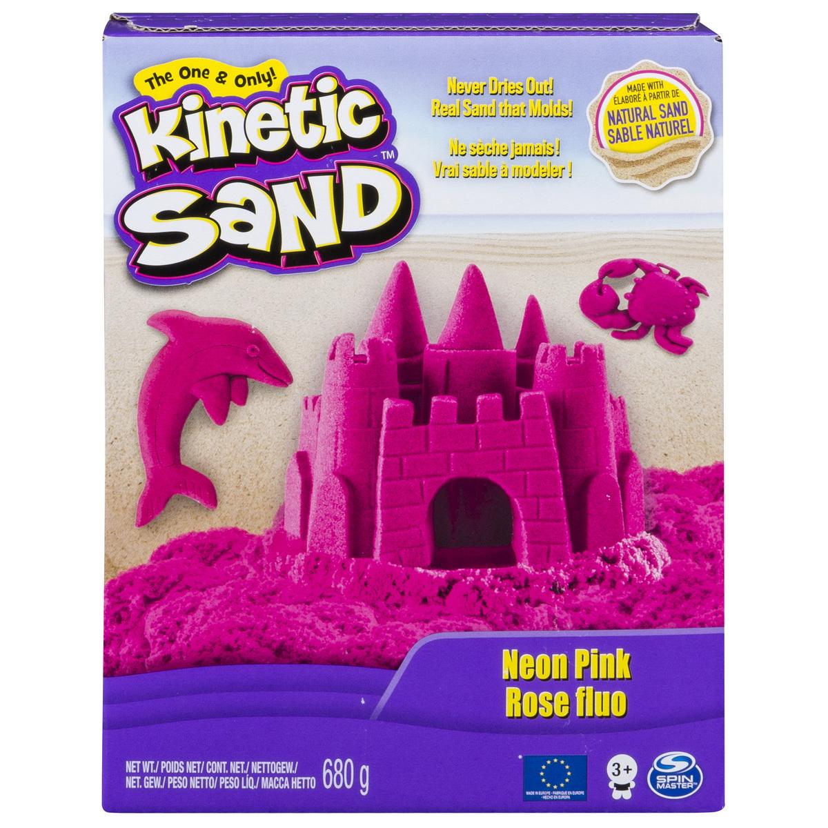 Kinetic Sand Deluxe Culori Roz Neon 680grame
