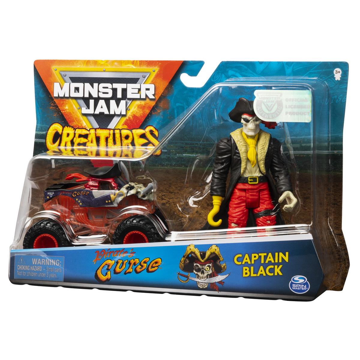 Monster Jam Macheta Blestemul Piratilor Si Capitanul Negru