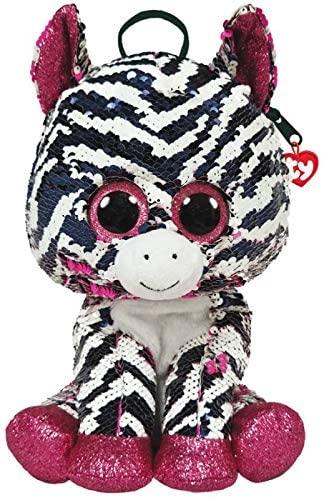Rucsac De Plus Ty Cu Paiete Zebra Zoey