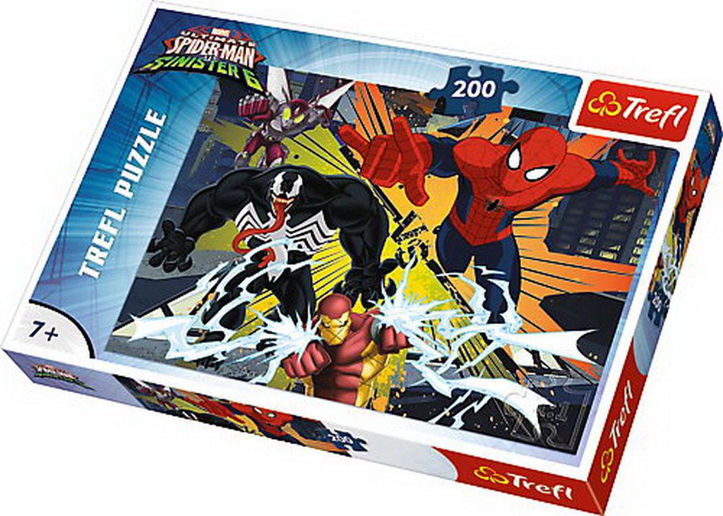 Puzzle Trefl 200 Explozia Spiderman