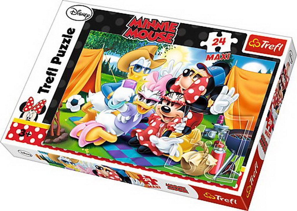 Puzzle Trefl 24 Maxi La Camping Cu Mickey