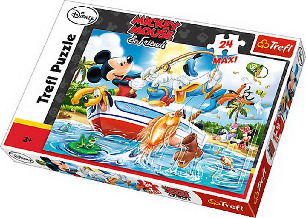 Puzzle Trefl 24 Maxi La Pescuit Cu Mickey