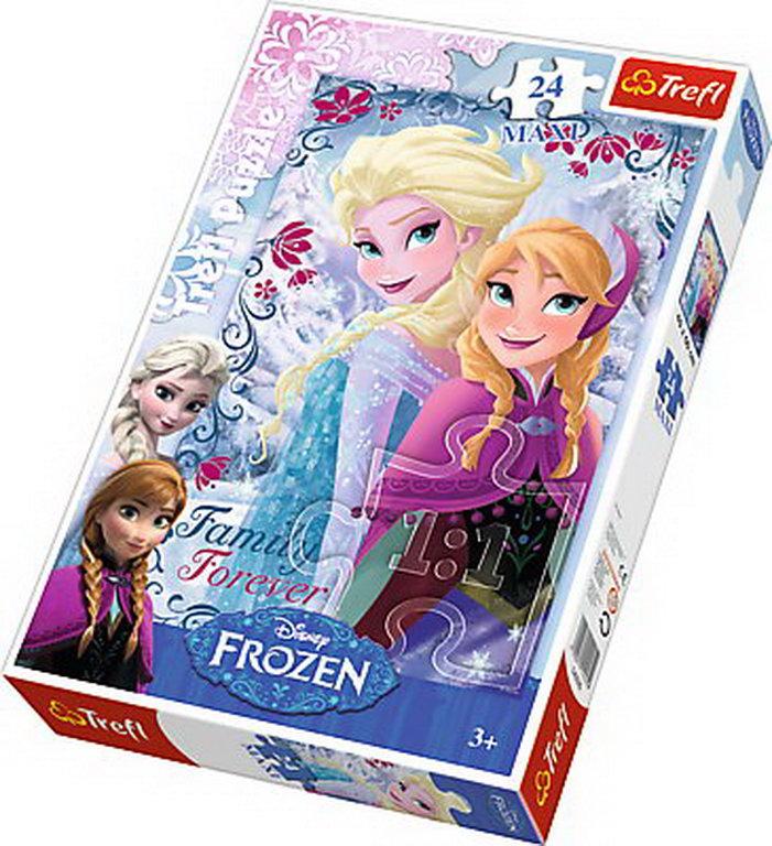 Puzzle Trefl 24 Maxi Surorile Anna Si Elsa