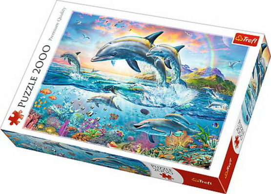 Puzzle Trefl 2000 Delfini Fericiti