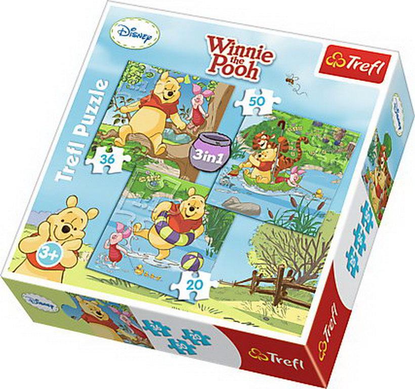 Puzzle Trefl 3in1 Winnie La Joaca