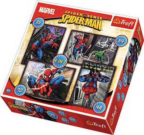 Puzzle Trefl 4in1 Spiderman
