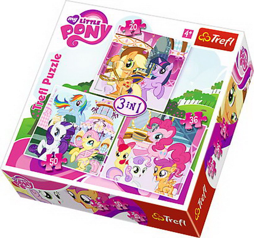 Puzzle Trefl 3in1 My Little Pony