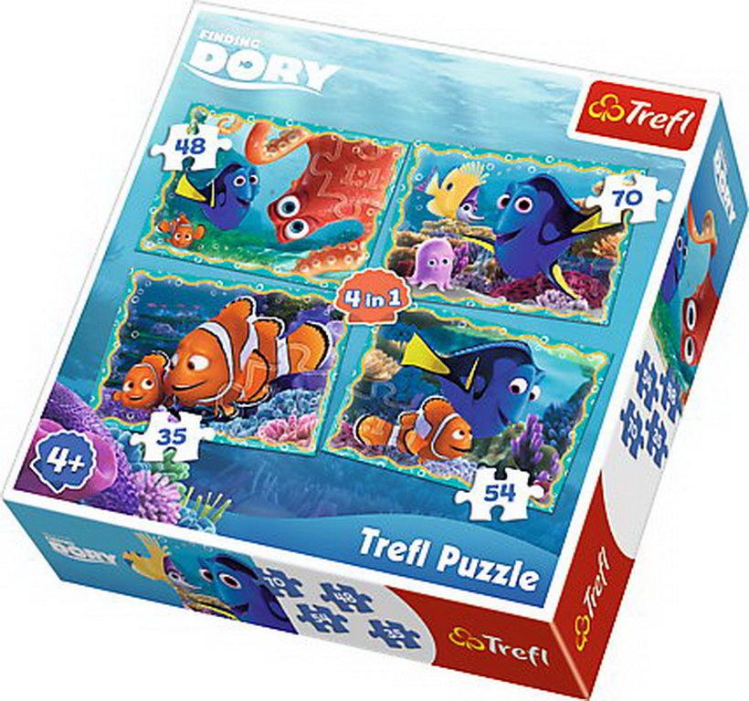 Puzzle Trefl 4in1 Distractie Sub Apa Cu Dori