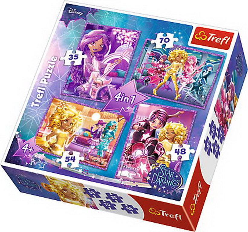 Puzzle Trefl 4in1 Prieteni Star