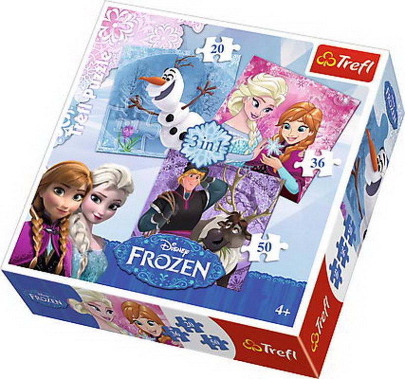 Puzzle Trefl 3in1 Eroii Frozen