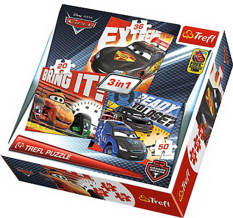 Puzzle Trefl 3in1 Dupa Cursa Cars2