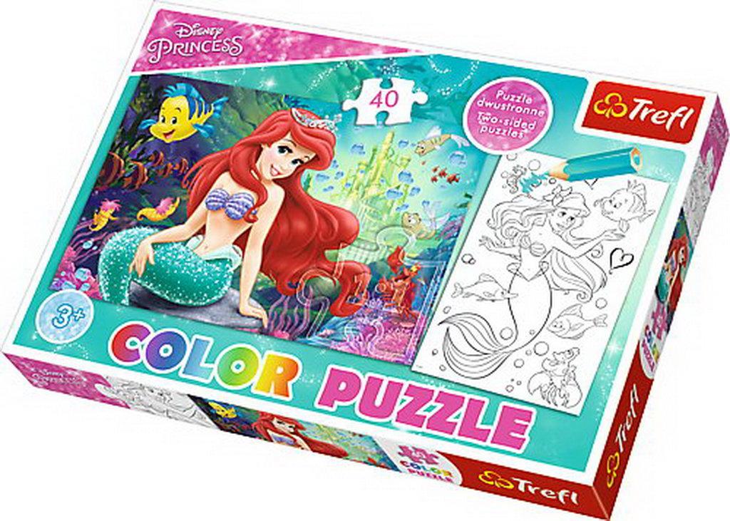 Puzzle Trefl Color 40 Tinutul De Sub Apa Al Arielei