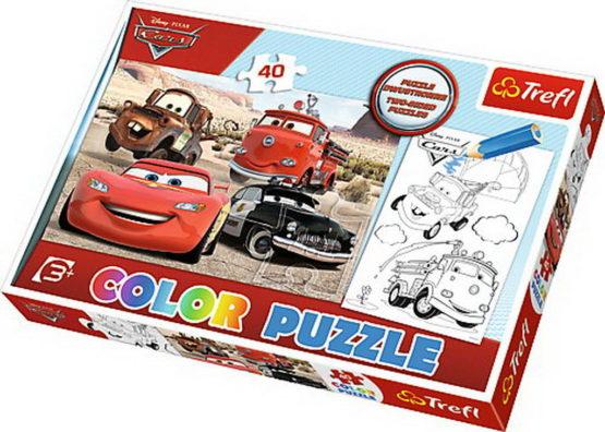 Puzzle Trefl 40 Color Masini In Desert