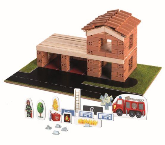 Brick Trick Statia De Pompieri Din Caramidute Ceramice