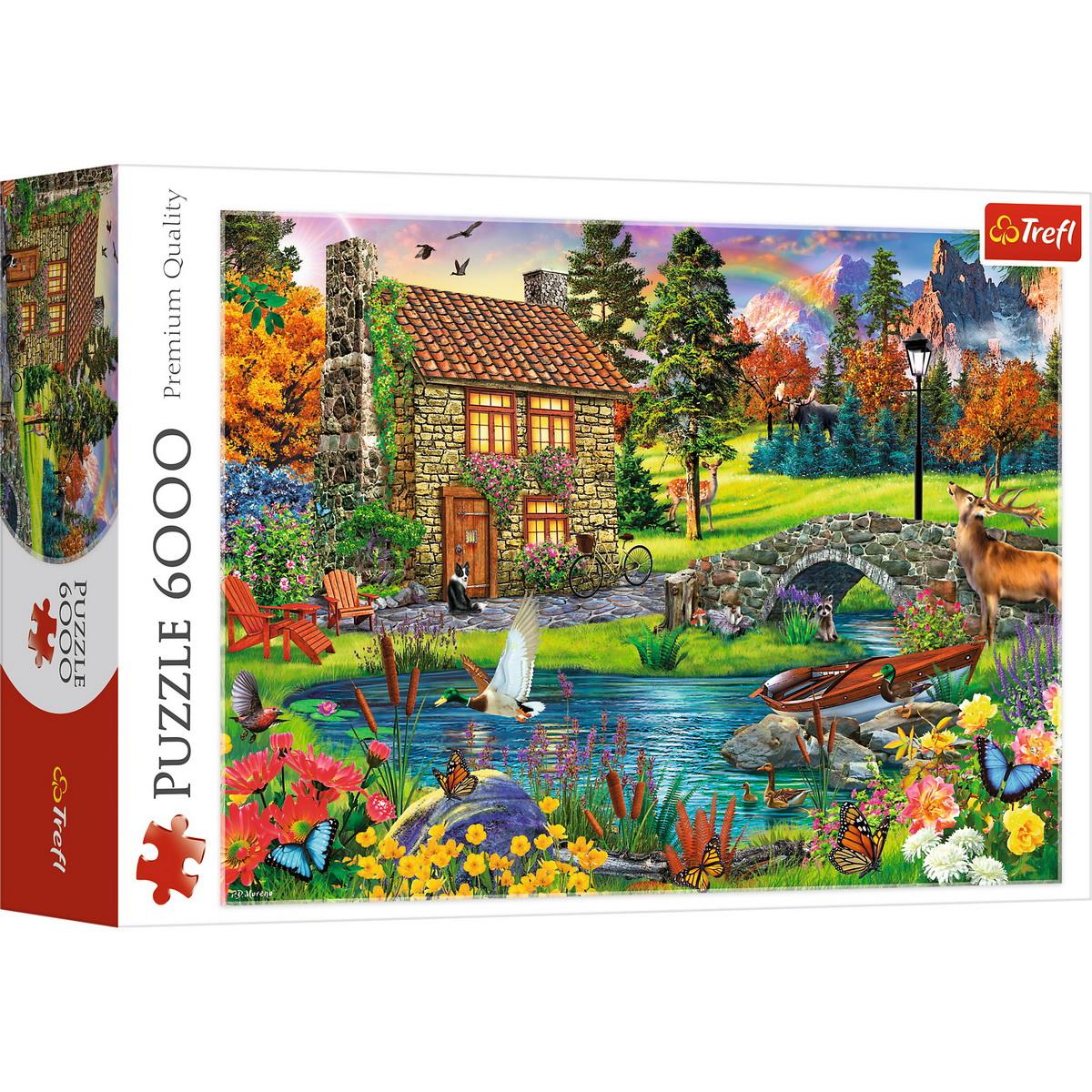 Puzzle Trefl 6000 Casuta Din Munti