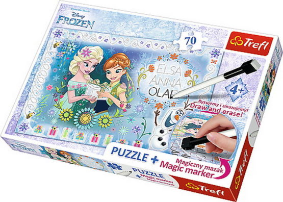 Puzzle Trefl 70 Plus Cu Marker Frozen
