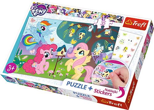 Puzzle Trefl 35 Cu Abtibilde My Little Pony