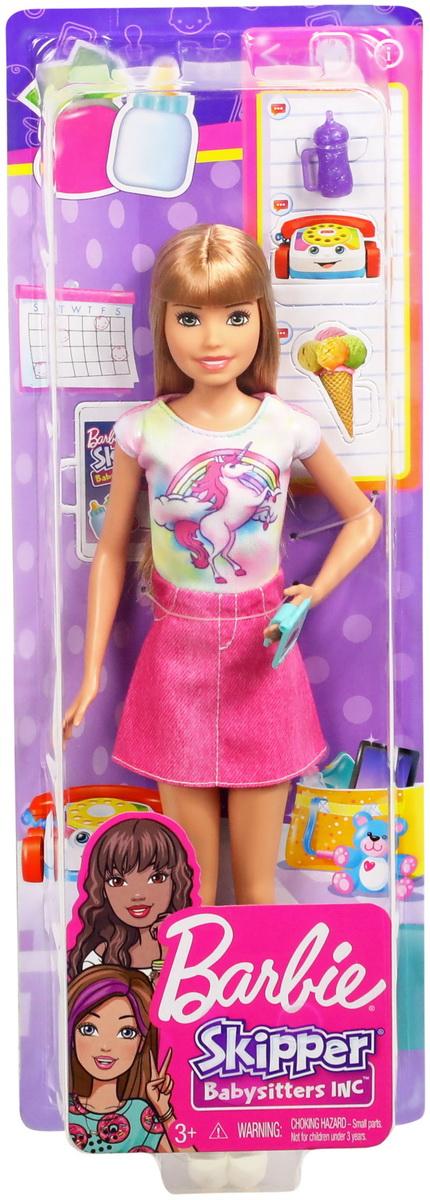 Papusa Barbie Gama Family Bona Blonda Cu Fustita Roz